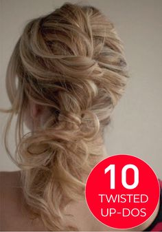 These gorgeous, messy, twisted updos are perfect for any occasion.