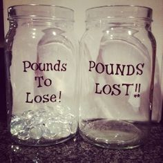 Lose weight easier(good idea) jar -  #pounds lost