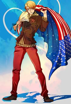 America from Hetalia .I love the detail in this oO(I applaud you)