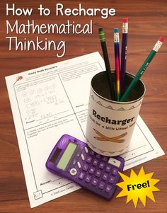 How to Recharge Mathematical Thinking using the Recharge & Write cooperative learning strategy.