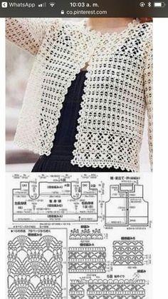 Crochet Skirts Crochet cardigan pattern jacket pdf pattern only asdidy fashion salvabrani salvabrani – Artofit Crochet Bolero Pattern, Crochet Jacket, Crochet Blouse, Crochet Patterns, Crochet Tutorials, Pull Crochet, Mode Crochet, Black Crochet Dress, Crochet Fashion
