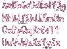 "I2S's Barnyard Applique Font -- Sizes: 3"", 4"", 5"" & 6""; upper and lowercase letters included. Numbers sold separately"