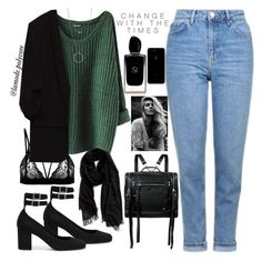 """Untitled #225"" by lamode-polyvore ❤ liked on Polyvore featuring Yves Saint Laurent, Topshop, Nordstrom, McQ by Alexander McQueen, Botkier and Giorgio Armani"