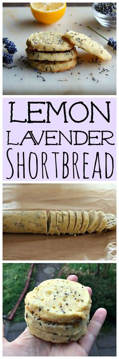These lemon and lavender shortbread cookies will brighten up your day! They are delicious and made with dried lavender flowers and lemon zest.