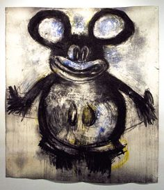 "AH HOLE AH HOLE: ""Blue Mickey,"" Joyce Pensato"