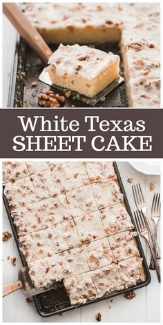 White Texas Sheet Cake recipe from RecipeGirl.com #texas #sheet #cake #recipe via @recipegirl