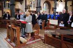Prince Charles, Prince of Wales and Camilla, Duchess of Cornwall attend a service during a visit to St Patricks Church on May 21. 2015 in Belfast, Northern Ireland. Prince of Wales and the Duchess of Cornwall will attend a series of engagements in Northern Ireland following their visit in the Republic of Ireland.