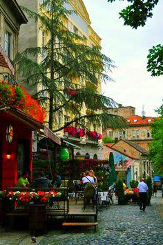 Belgrade, Serbia - Skadarlija is main bohemian quarter of Belgrade, styled as…