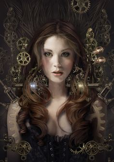 - John Blumen/// I think of this as a Steampunk Fairy???