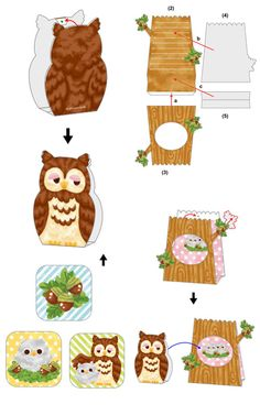 DIY owl Mother's Day card