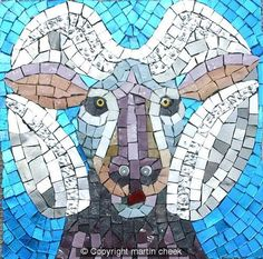 Aries mosaic. For in depth info on Aries personality & characteristics go to http://www.buildingbeautifulsouls.com/zodiac-signs/western-zodiac/aries-star-sign-traits-personality-characteristics/