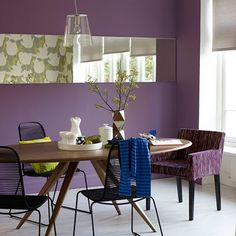 Not my usual colour choice, but I think this dining room is lovely & warm.