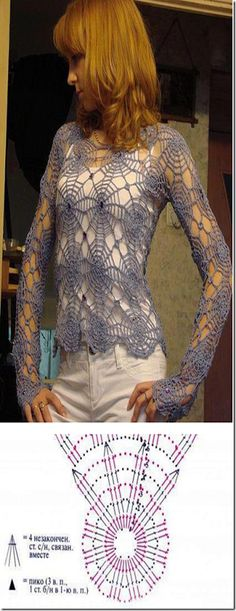 Crochet Top with its diagram