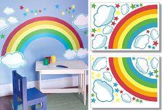 Rainbow Wallpaper 700x477 Kids Decoration Ideas