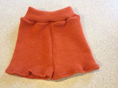 Small upcycled merino wool shorties cloth diaper cover by Jamnee, $12.00