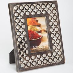 Handcarved Mango Wood Filigree Picture Frame | VivaTerra