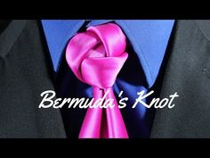 How To Tie a Tie Bermuda's Triangle - YouTube