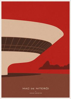 ARCHITECTURE - Brazil - Mac de Niterói - Poster Illustration by André Chiote