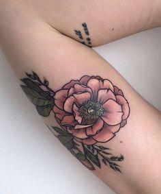 Most Loving Flower Tattoo Design for Girls