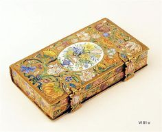 Capsule in book form,   probably from Copenhagen, mid-17th century.