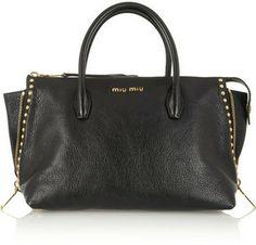 Miu Miu Shopping studded leather tote on shopstyle.com