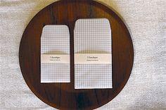 Classiky 5 Grid Pattern Glassine Envelope Set. by niconecozakkaya