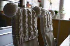 Купить Чехол-шапочка на спинку стула. - коричневый, вязаные аксессуары, чехлы на стулья, knitted accessories