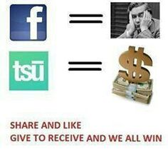 4 yrs on FB = ZERO On tsu.co for a week and earning already! See it here:  tsu.co@weightlossgirl