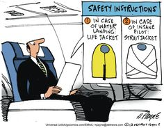 Safety Instructions. By Henry Payne #GoComics #PoliticalCartooon #Humor #Comic #Pilot