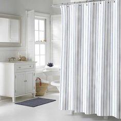 Nautica Palmetto Bay Stripe Cotton Shower Curtain Multicolor 197145