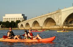 Kayak, Canoe or Stand Up Paddleboard past DC's monuments, Georgetown Waterfront and Roosevelt Island $15-$20