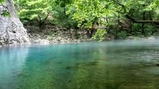 Voidomatis Springs, near Vikos -  the perfect place for a short, beautiful walk, amble amongst sheer limstone cliffs, luscious woodland and along the Voidomatis river, also a good place for a cooling dip.