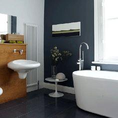Salle de bains gris et blanc d co pinterest interieur for Manon leblanc salle de bain