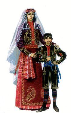 Armenian clothing from Karin (Erzurum), late 19th century.