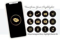 100 Gold Instagram Story Highlight Icons Instagram Stories | Etsy Pc Instagram, Instagram Story, Robin Photos, Story Highlights, Iconic Photos, All Icon, Shades Of Black, Back To Black, Black Backgrounds