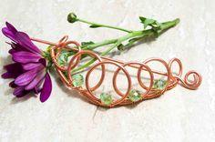 Copper wire Hair pinbun holderhair slidehair by MusawwarCreation