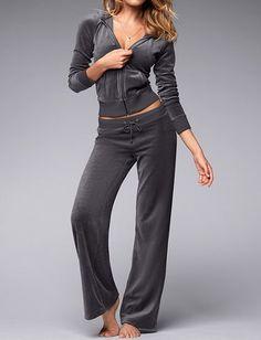 Victoria's Secret Velour Pant & Hoodie Set, Apparel & Accessories :: Clothing :: Sleepwear & Loungewear :: Bullszi.com