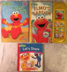 Sesame Street Children's Book Lot 3 Counting, Play-a-Sound, Manners, PB Board Bk