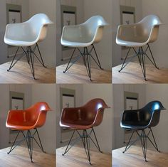 "Set: 6 Orig. Eames ""Fiberglass Chairs"" - 01.12.2016 19:57:00 - 1 Eames, Chairs, Box, Furniture, Home Decor, The Fifties, Household, Homes, Tire Chairs"