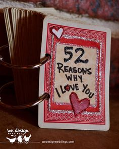 52 Reasons Why I Love You Playing Card Book