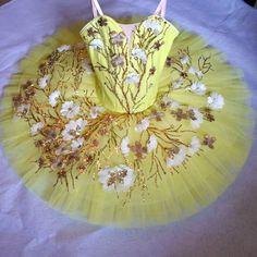 NEW! Professional Yellow Ballet Tutu Costume Canary Fairy Flower Custom MTO YAGP #Unbranded