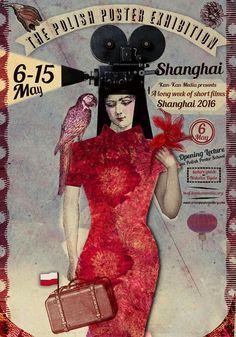 Wystawa plakatu polskiego, Shanghai, The Polish Poster Exhibition, Shanghai, Renkas Kaja Saul Bass, Museum Of Fine Arts, Museum Of Modern Art, Polish Posters, Film Posters, Polish Films, Vintage Poster, Exhibition Poster, Poster