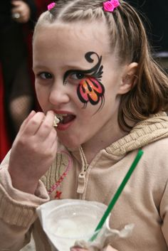 Possibly change out a display butterfly with variation of this. Girl Face Painting, Belly Painting, Face Painting Designs, Face Paintings, Butterfly Face Paint, Cheek Art, Kids Makeup, Cool Face, Eye Art