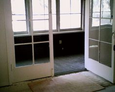 French doors to side porch 2012