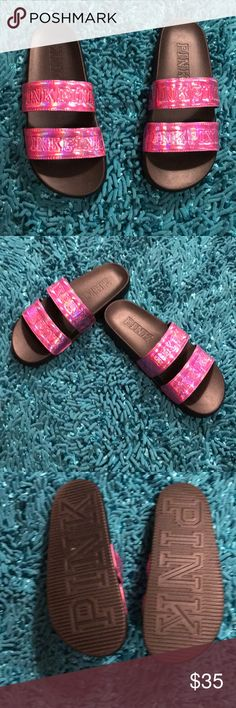 🌹Sale🌹PINK SLYDES Like New. Really Pretty PINK Victoria's Secret Shoes Sandals