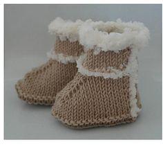 Baby Uggs Knitting Pattern Baby Booties PDF by DeborahGraceDesigns