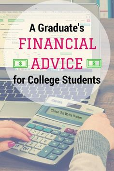 Financial Advice for College Students: Tips for paying for college and managing your money when you live on your own for the first time. Information on financial aid, budgeting, and so much more! #collegetips #money