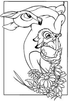 Bambi coloring page 2 Wallpaper