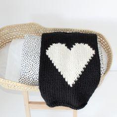 Black and off-white heart blanket https://www.etsy.com/shop/YarningMade