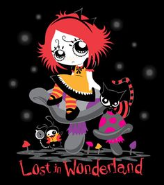 Ruby Gloom - Lost in Wonderland cartoon crossover.